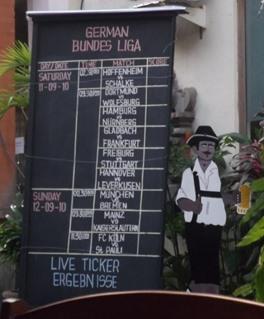 Fußball Ticker auf Bali